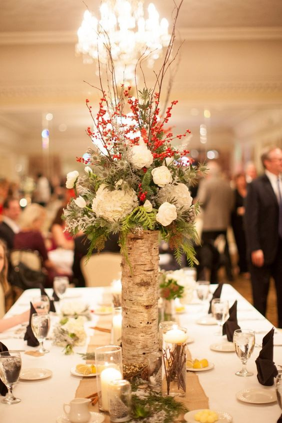 Rock Your Winter Wedding with Birch Centerpieces 013