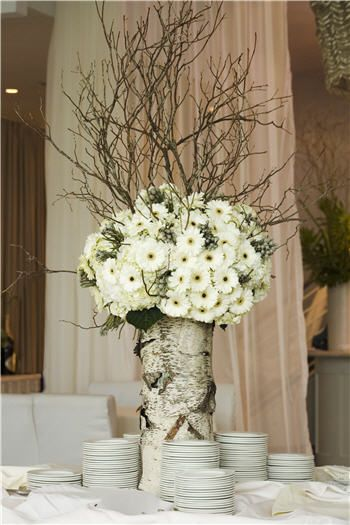 Rock Your Winter Wedding with Birch Centerpieces 016