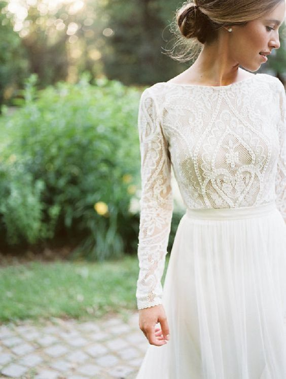 Stylish Long Sleeve Wedding Dresses to Rock! 004
