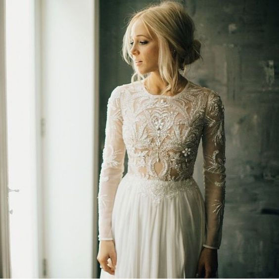 Stylish Long Sleeve Wedding Dresses to Rock! 006