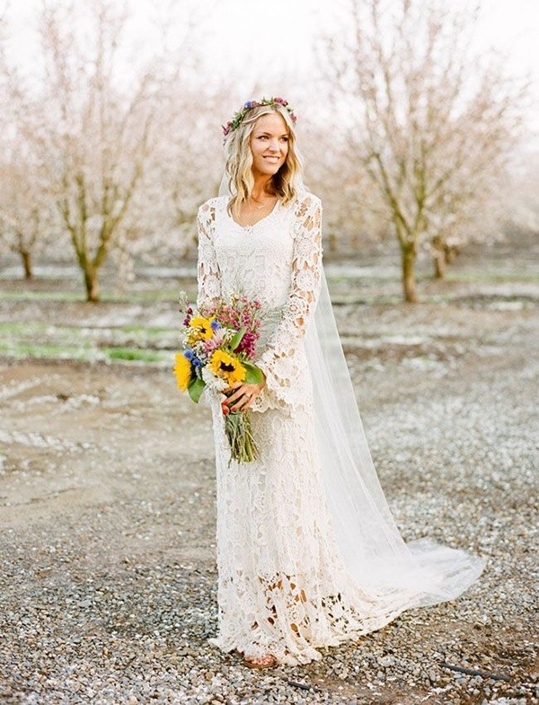 Stylish Long Sleeve Wedding Dresses to Rock! 008