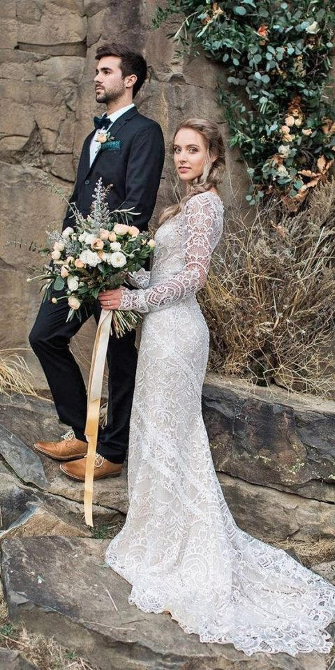 Stylish Long Sleeve Wedding Dresses to Rock! 012