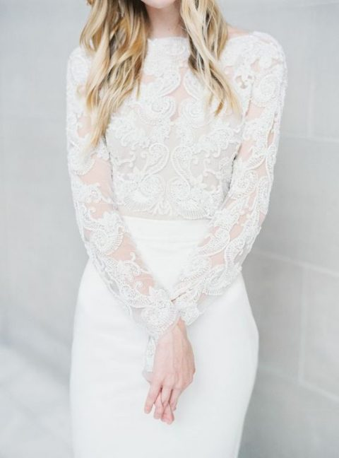 Stylish Long Sleeve Wedding Dresses to Rock! 014