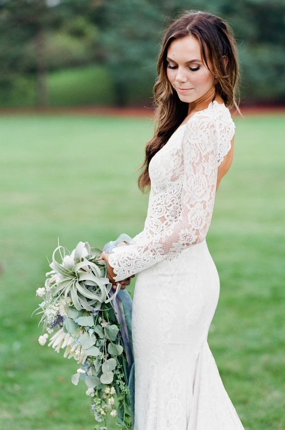 Stylish Long Sleeve Wedding Dresses to Rock! 015