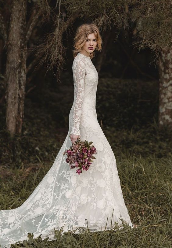 Stylish Long Sleeve Wedding Dresses to Rock! 023