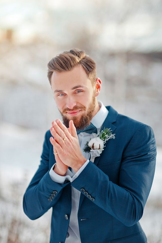 Stylish Winter Groom Attires Too Cool not to Have! 010