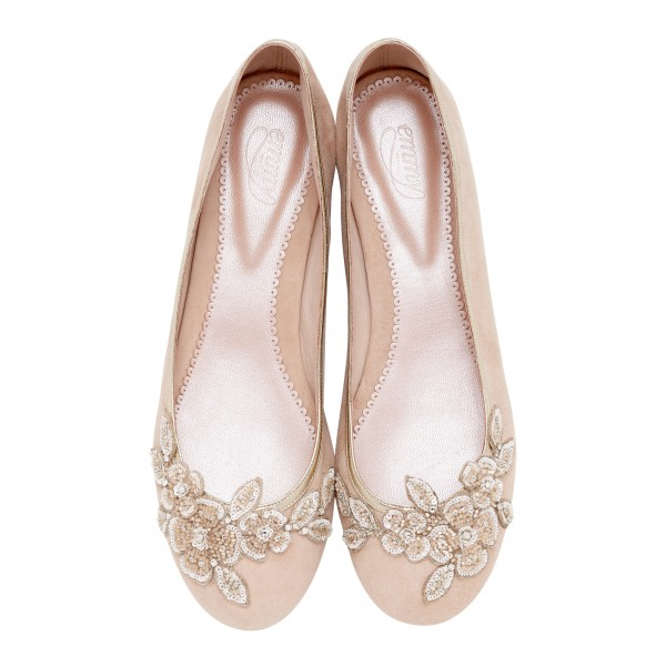 Stylish and Charming Nude Wedding Shoes to Love 002