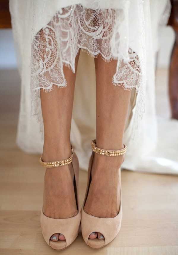 Stylish and Charming Nude Wedding Shoes to Love 003