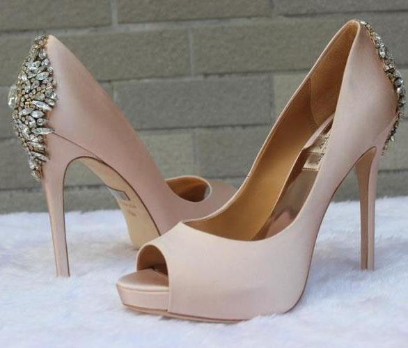 Stylish and Charming Nude Wedding Shoes to Love 005