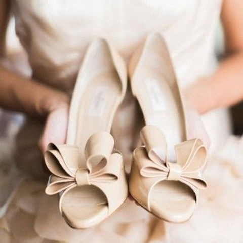 Stylish and Charming Nude Wedding Shoes to Love 008