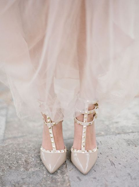 Stylish and Charming Nude Wedding Shoes to Love 009