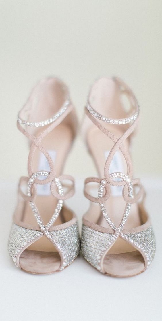 Stylish and Charming Nude Wedding Shoes to Love 012