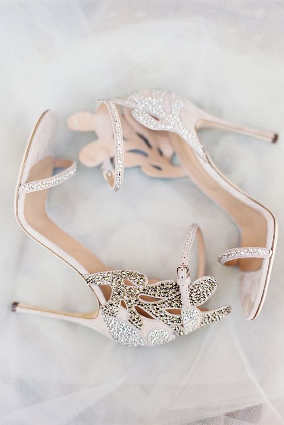 Stylish and Charming Nude Wedding Shoes to Love 013