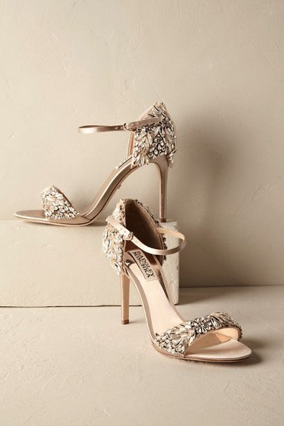 Stylish and Charming Nude Wedding Shoes to Love 014