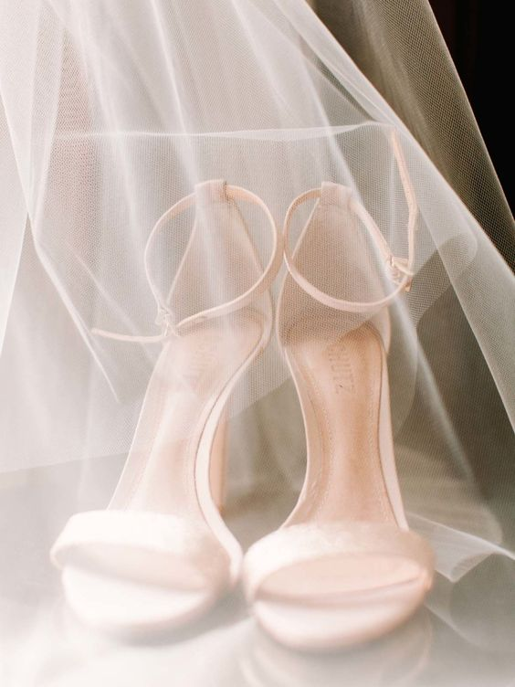 Stylish and Charming Nude Wedding Shoes to Love 015
