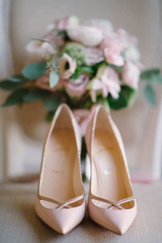 Stylish and Charming Nude Wedding Shoes to Love 016