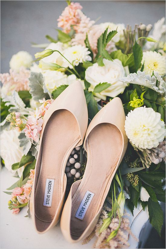 Stylish and Charming Nude Wedding Shoes to Love 017