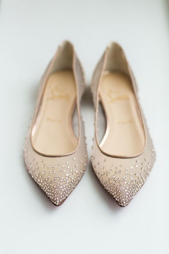Stylish and Charming Nude Wedding Shoes to Love 018