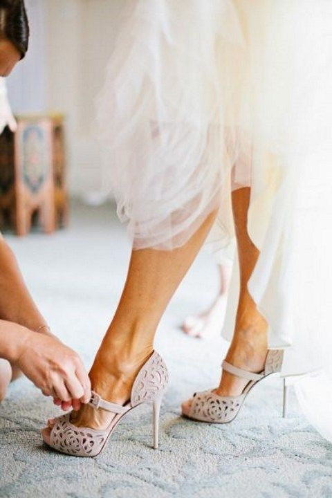 Stylish and Charming Nude Wedding Shoes to Love 020