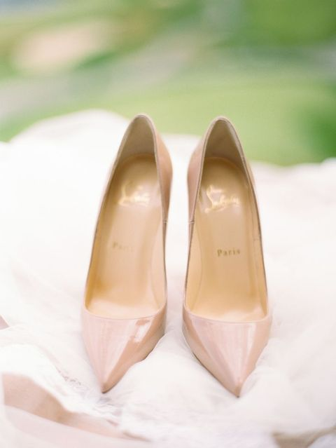 27 Stylish and Charming Nude Wedding Shoes for 2020 trend