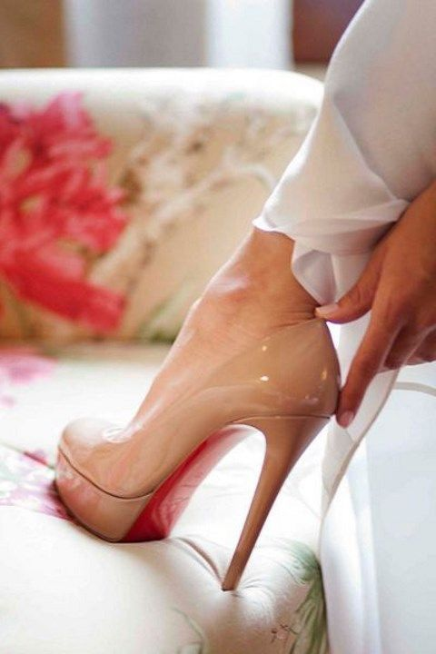 Stylish and Charming Nude Wedding Shoes to Love 023
