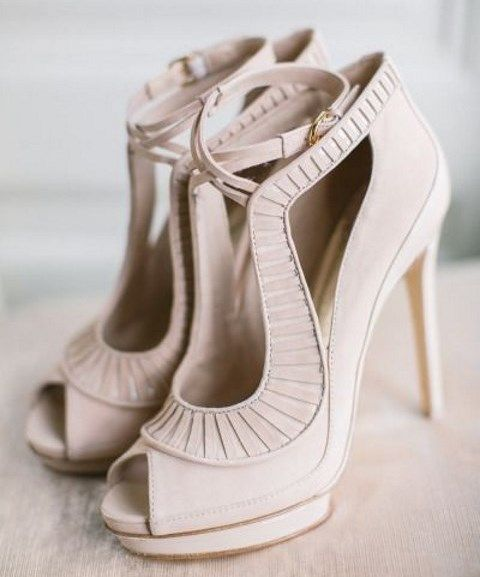 Stylish and Charming Nude Wedding Shoes to Love 024