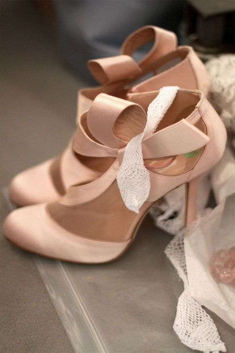 Stylish and Charming Nude Wedding Shoes to Love 025