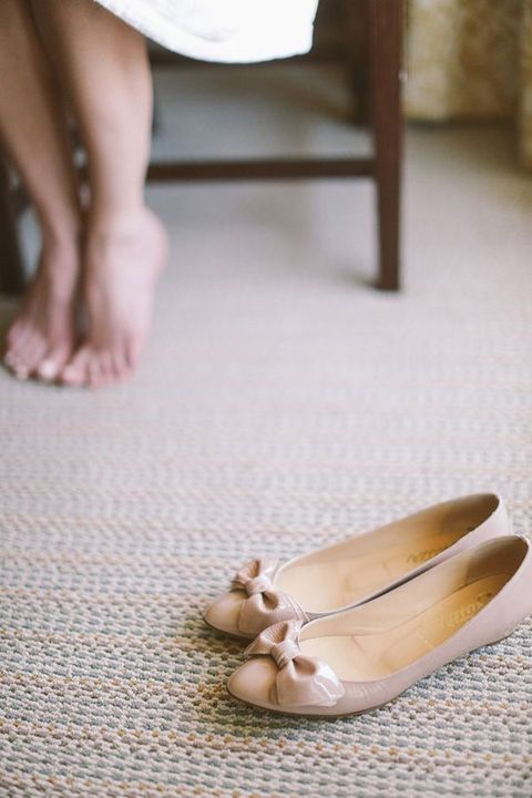 Stylish and Charming Nude Wedding Shoes to Love 026