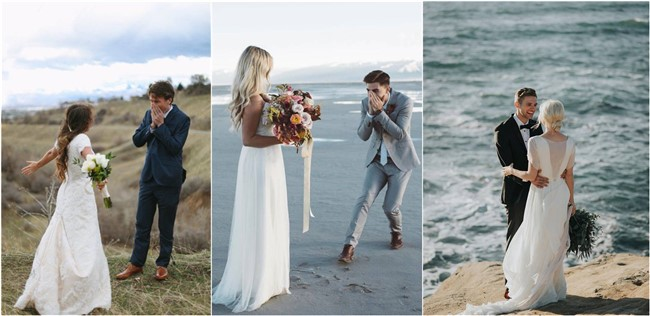 20 Heart-melting and Sweet Wedding First Look Photos