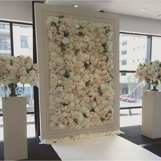 Modern Wedding Backdrop Ideas: 22 Trending Flower Wall Backdrops For Your Wedding Day