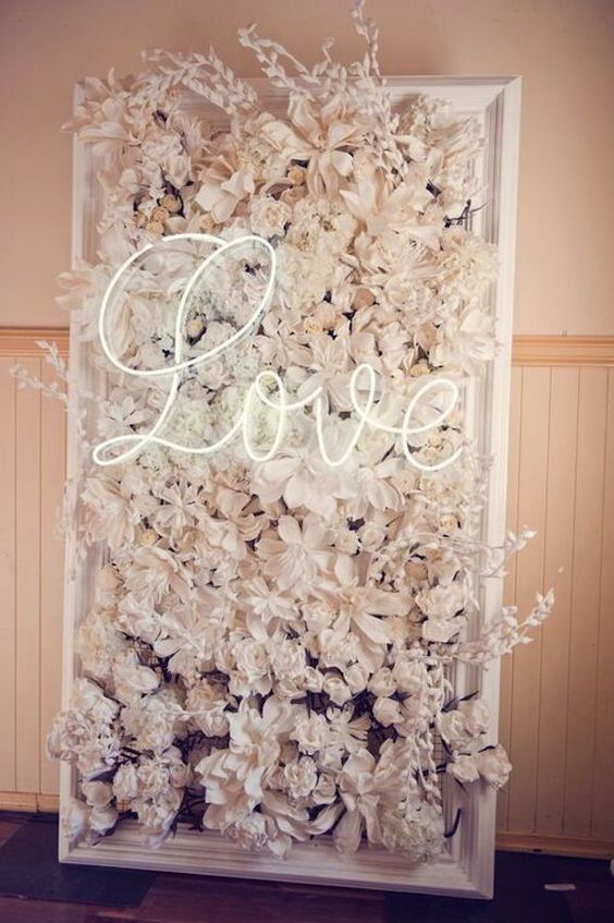 22 Trending Flower Wall Backdrops For Your Wedding Day