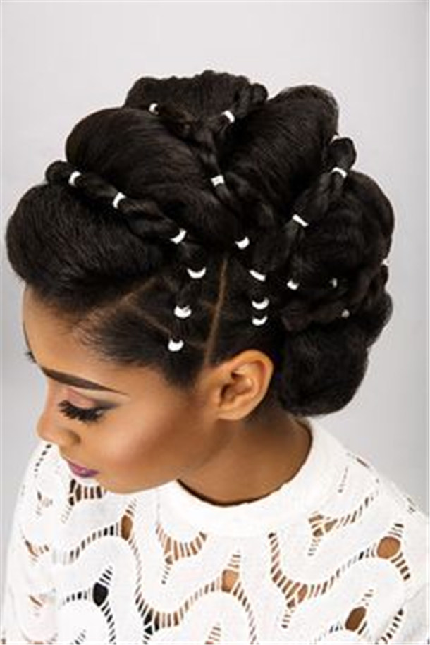 20 Wedding Updo Hairstyles for Black Brides - Page 2