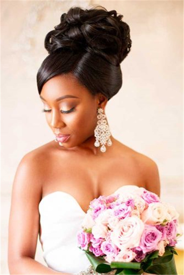 20 wedding updo hairstyles for black brides