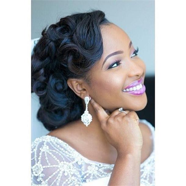 Updo Hairstyles For Black Hair Weddings: 20 Wedding Updo Hairstyles For Black Brides