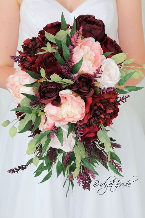 Burgundy and blush bouquet by Best Photography