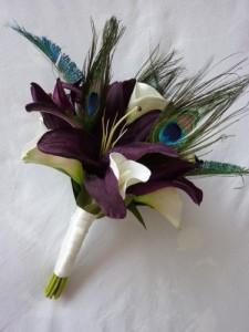 18 Unique Rustic Feather Wedding Bouquets_018
