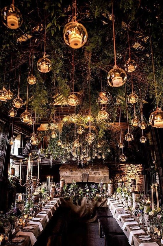 Enchanted Forest Wedding Theme venue and decorations & ideas.