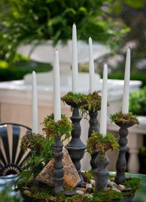 Enchanted Forest Wedding Themed Centerpiece ideas