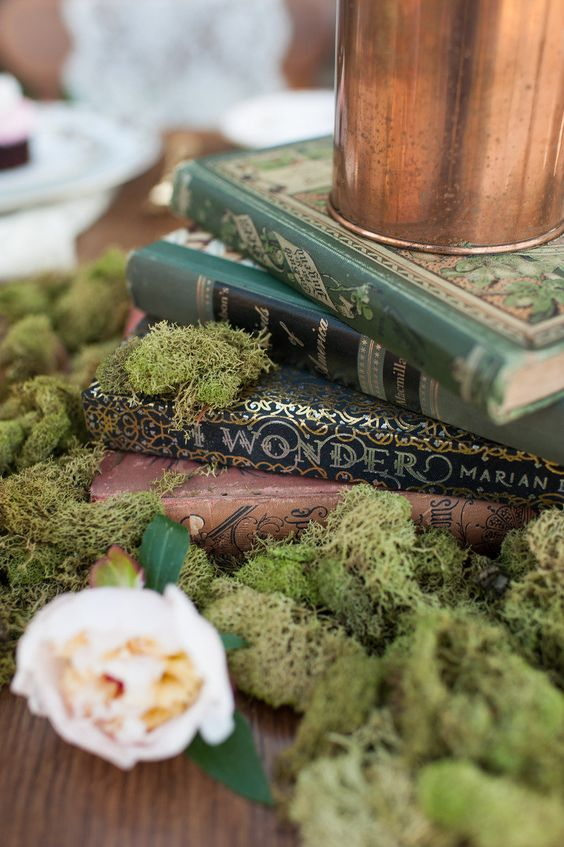 Enchanted Forest Wedding Sign with Literature Locations by Pepper Nix Photography