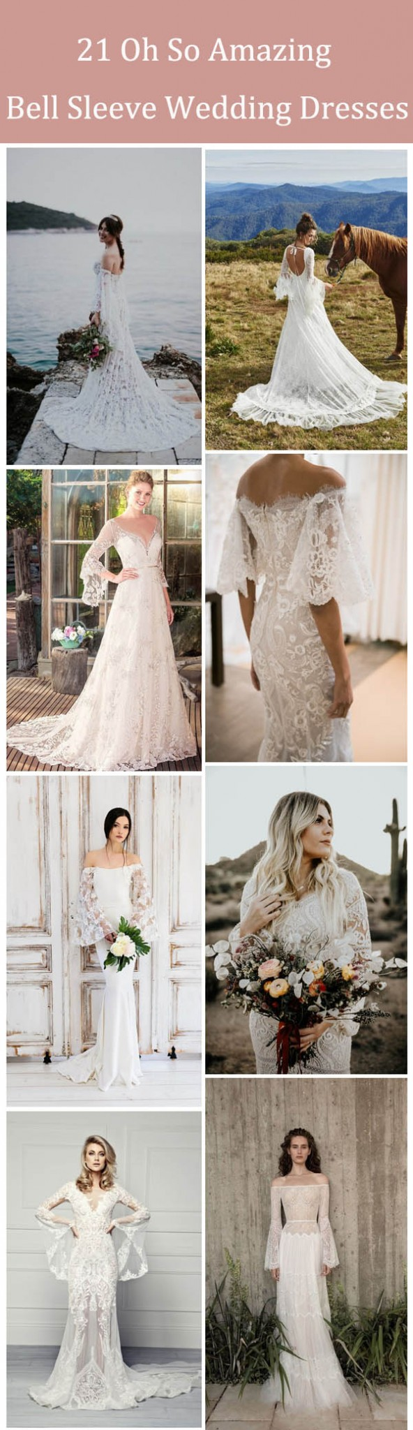 21 Oh So Amazing Bell Sleeve Wedding Dresses