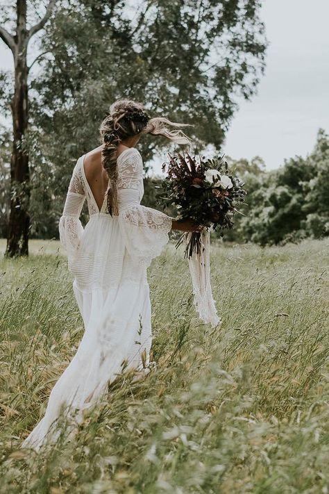21 Oh So Amazing Bell Sleeve Wedding Dresses