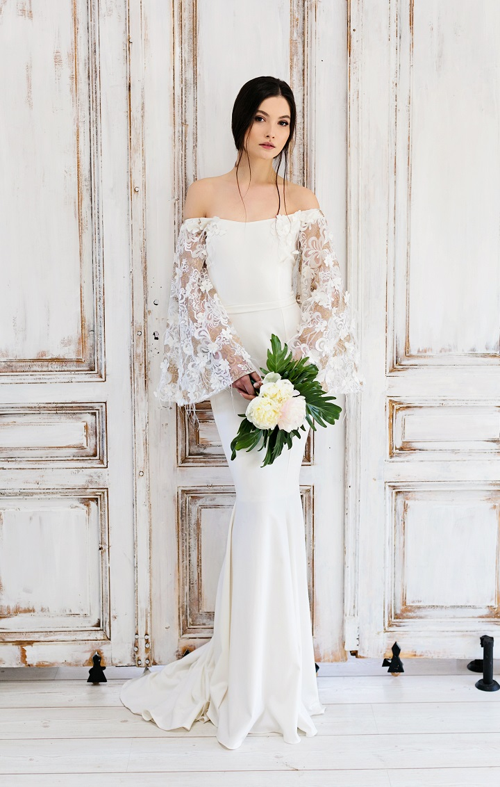 Amazing Boho Wedding Dresses With Bell Sleeves