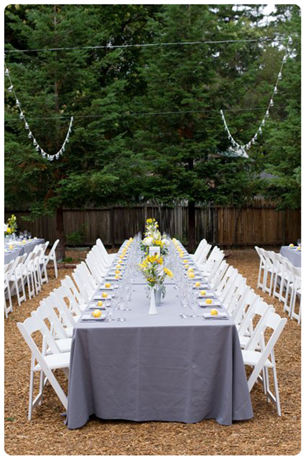 Backyard Wedding Theme-Guest Tables