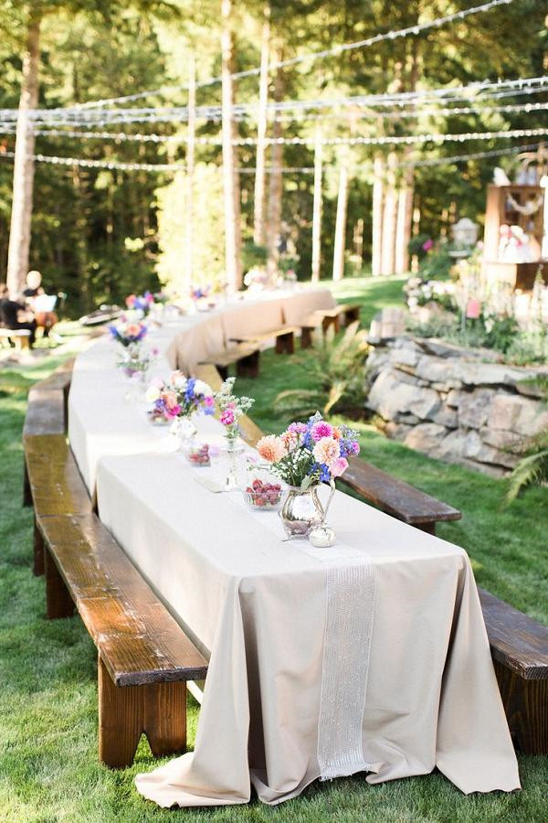Rustic Backyard Wedding Decorations