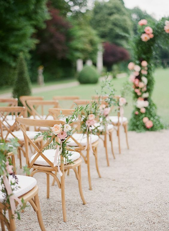 decorating chairs for wedding 20 must wedding chair decorations for ceremony 3363