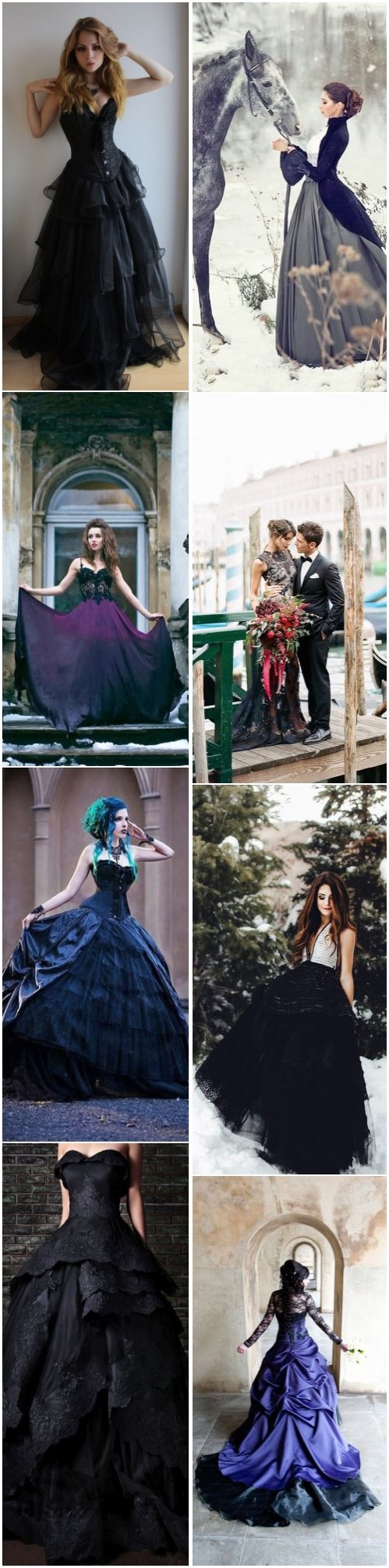 Non-traditional and Unique Gothic Wedding Dresses to Love