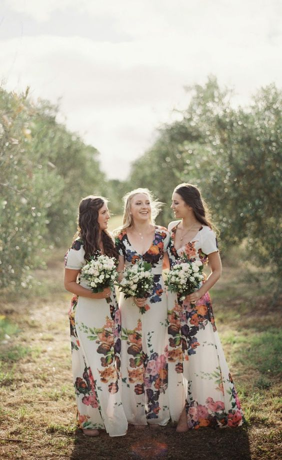 Floral Fantasy Bridesmaids Gowns