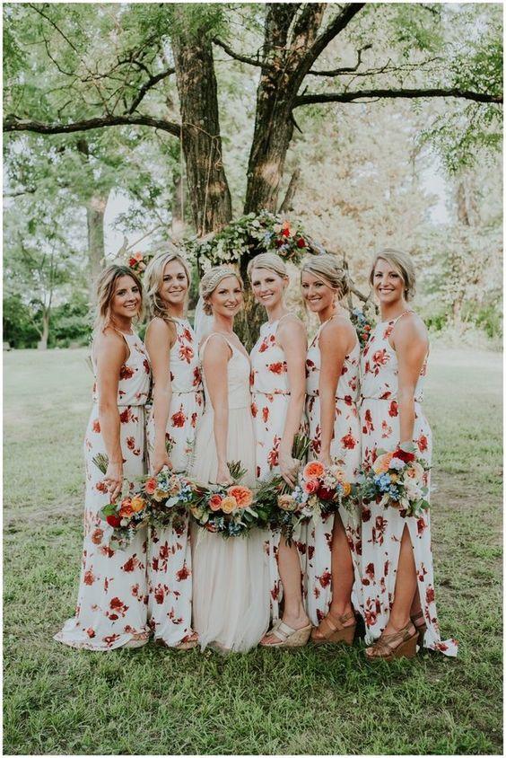 Sophisticated Jenny Yoo bridesmaid dresses