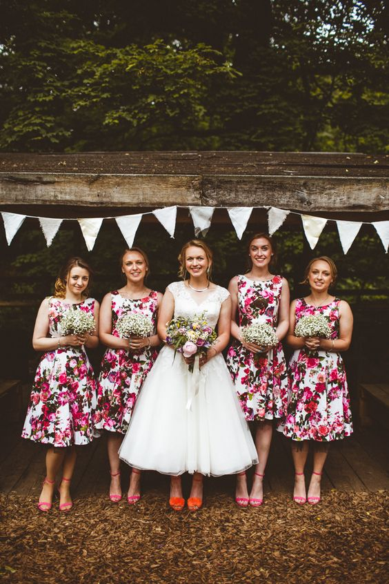 Bridesmaid Dresses in the Most Beautiful Prints Ever Seen