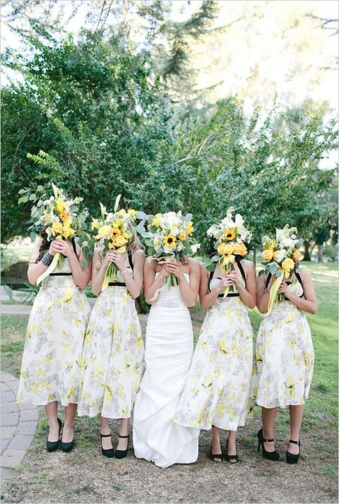 Trendy Floral Bridesmaid Dresses